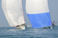 Two boats sailing - Centomiglia 2012 Stock Photos