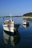 Two boats in the sea Royalty Free Stock Images