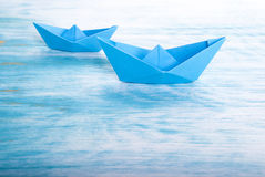Two Boats in the Sea Royalty Free Stock Image