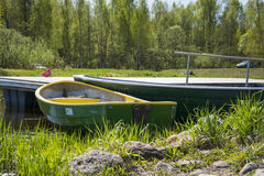 Two boats in summer Stock Image