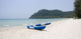 Two boats is on a tropical beach Stock Photography