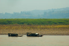 Two boats at Yangtze river Stock Photo
