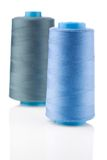 Two bobbin with thread Royalty Free Stock Photo