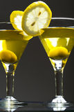 Two bocals  of martini Royalty Free Stock Images