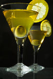Two bocals  of martini Royalty Free Stock Photo