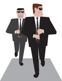 Two bodyguards at work Stock Photo