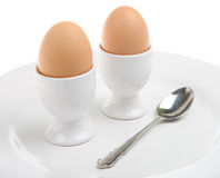 Two Boiled Eggs Royalty Free Stock Photo
