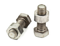 Two bolts with nuts Royalty Free Stock Image