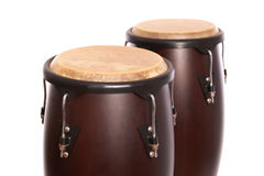 Two Bongos Isolated on White Stock Image