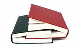 Two books. Two coloured book each other stock images