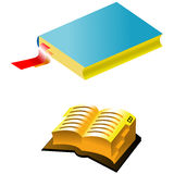 Two books with bookmark. Over white Royalty Free Stock Images