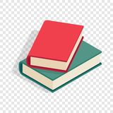 Two books isometric icon. 3d on a transparent background vector illustration Royalty Free Stock Images