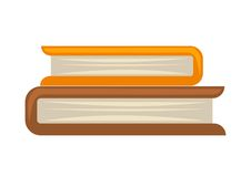 Two books in roll. Vector illustration of two books stacked on one another isolated on white Royalty Free Stock Photography