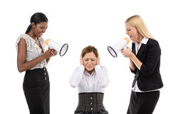 Two boss and subordinate Stock Photos