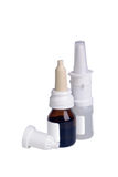 Two bottle with nasal drops Royalty Free Stock Photography