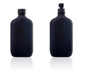 Two bottle of parfum and spray Royalty Free Stock Photography
