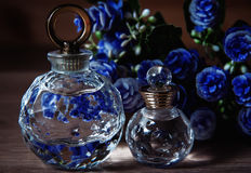 Two bottle of perfume Royalty Free Stock Photography