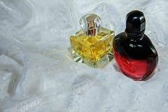 Two bottle of perfume Stock Photos