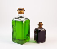 Two bottles. On a white background Stock Image