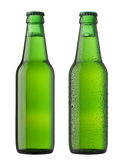 Two bottles of beer Royalty Free Stock Photos