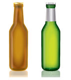 Two bottles of beer,vector Stock Photography