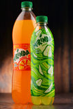 Two bottles of carbonated soft drink Mirinda Royalty Free Stock Image