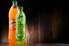 Two bottles of carbonated soft drink Mirinda Stock Images
