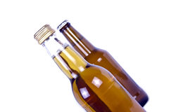 Two bottles covered with cap Royalty Free Stock Photos