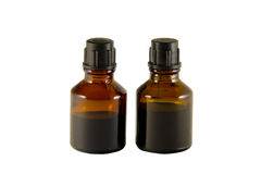 Two bottles of iodine and brilliant green Stock Images