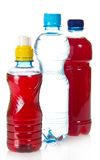 Two bottles with juce and water Stock Image