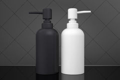 Two bottles for liquid soap with dispenser pump Royalty Free Stock Photo