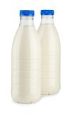 Two bottles of milk Stock Image