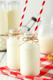 Two bottles of milk Royalty Free Stock Photo
