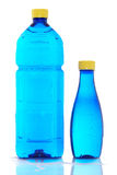 Two bottles of mineral water Stock Photo
