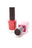 Two bottles of nail varnish Stock Images