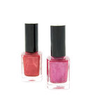 Two bottles of nail varnish Stock Image