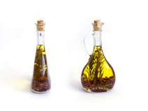 Two bottles with olive oil Royalty Free Stock Images