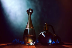 Two bottles of perfume Royalty Free Stock Photo