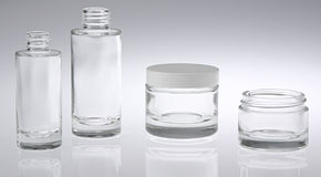 Two Bottles Two Jars Stock Image