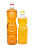 Two bottles with vegetable oil Stock Image