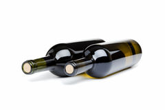Two bottles of wine Stock Image