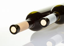 Two bottles of wine Stock Photo