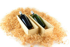 Two bottles of wine Royalty Free Stock Photos