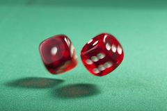 Two Bouncing Dice Stock Photos
