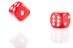 Two Bouncing Dice Royalty Free Stock Image