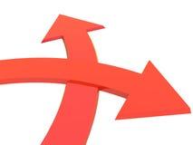 Two bound arrows Stock Photos