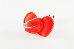 Two bound hearts Stock Image