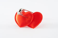 Two bound hearts Royalty Free Stock Photo