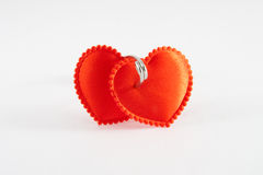Two bound hearts Royalty Free Stock Image