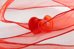 Two bound hearts Stock Photo